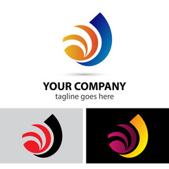 Abstract development logo element