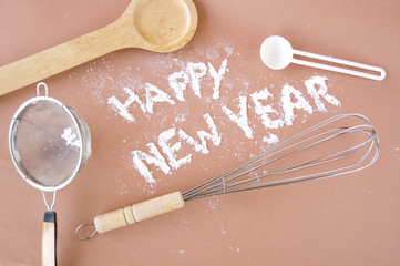 happy new year with kitchenware