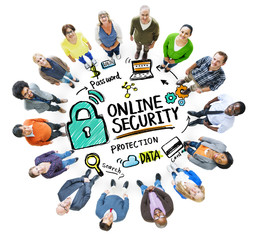 Online Security Protection Internet Safety People Diversity Conc