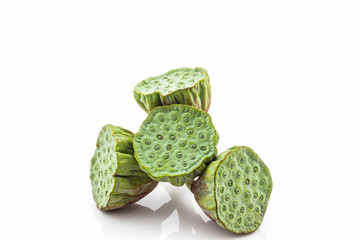 Calyx, Lotus seeds green.