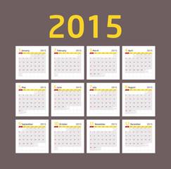 Calendar 2015 - Brown