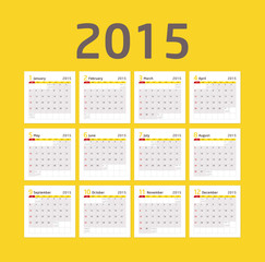 Calendar 2015 - Yellow