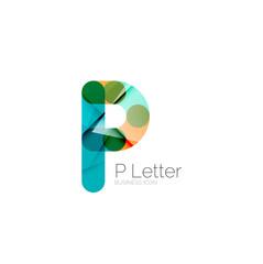 Minimal P font or letter logo design