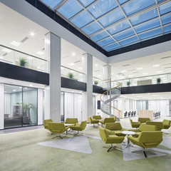 modern office lobby hall interior