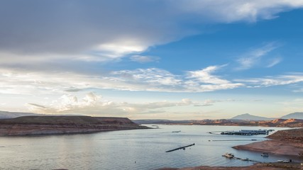 Lake Powell at Sunset Time-lape taken from Halls Crossing Marina