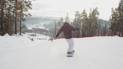 Follow Shot: Snowboarder