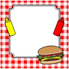 Hamburger Cookout Invite