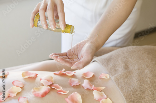poster of Esthetician you are hanging the aroma oil
