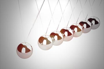 Balancing balls Newton's cradle