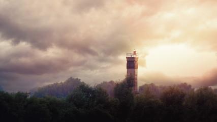 DDR Grenzturm im grünen Band