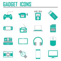 gadget icons, mono vector symbols