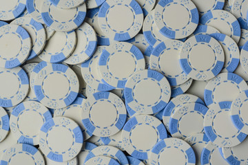 Blue Poker Chip Background