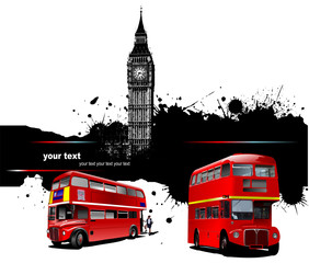 Cover for brochure with London images