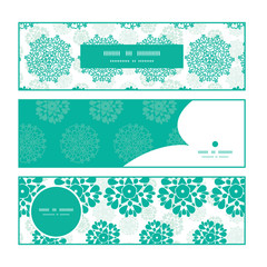 Vector abstract green decorative circles stars striped