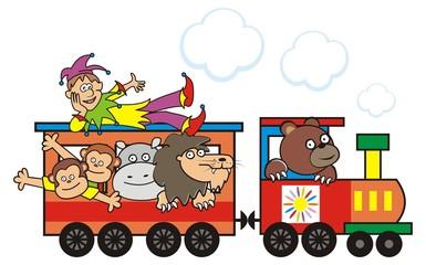 Train and animals
