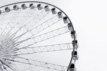 Abstract of ferris wheel against sky