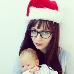 Mother santa claus baby