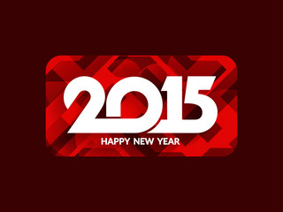 Beautiful happy new year 2015 background design.
