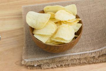 Potato slices in a bowl