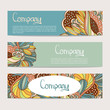 Vector stylish floral banners.