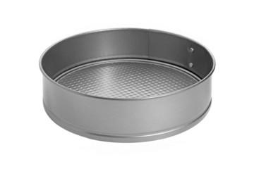 Teflon baking dish isolated on white background