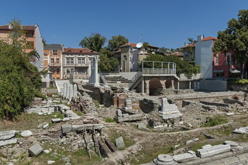 The ancient stadium Odeon of Philipopolis in Plovdiv, Bulgaria.