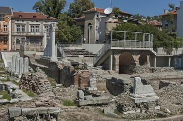 The ancient stadium Odeon of Philipopolis in Plovdiv, Bulgaria.