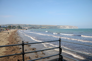 Pier and beach at Swanage in Dorset