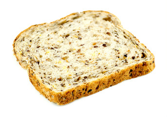 Slice of whole wheat multigrain toast