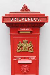 historischer Postbriefkasten