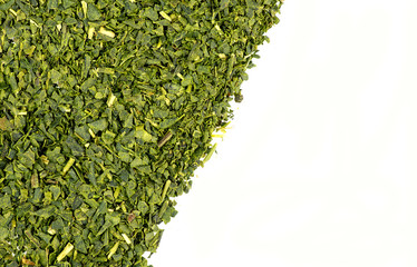 Loose leaf green tea background texture