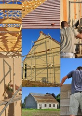 collage construction maison individuelle