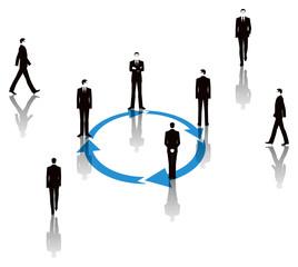 ビジネスマンと矢印のビジネスイメージ