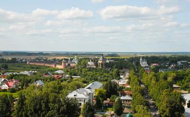 Суздаль. Вид на город и Спасо-Евфимиев монастырь сверху