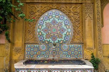 fontaine à eau mosaïque - Marrakech