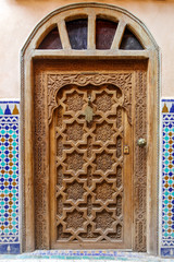porte en bois , marrakech