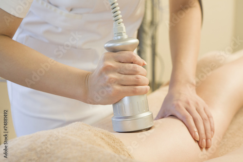 poster of Esthetician with a cavitation machine
