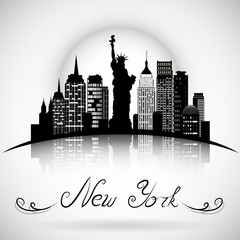 New York City skyline. eps 10 vector