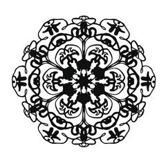 black floral pattern in modern style