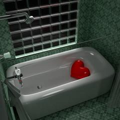Heart bath tub.
