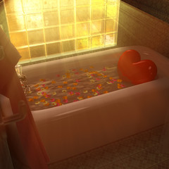 Heart bath tub.