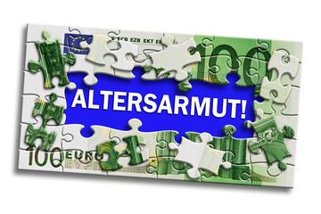 Geldschein - Altersarmut!
