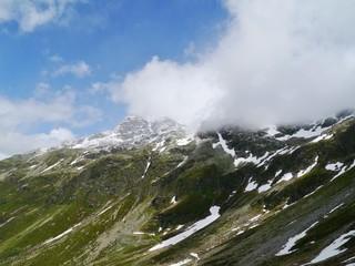 The spluegen pass in Switzerland