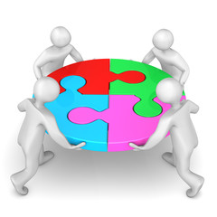 Manikins Circle Puzzle