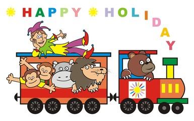 Train,happy holiday