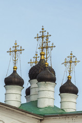 Crosses on the Assumption Church of the  Alexandrov Kremlin