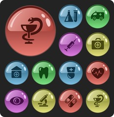 Medical button set
