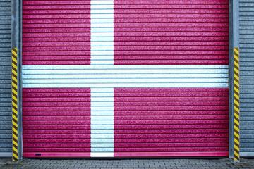 Dänisches verzinktes Stahltor (danish roll-up door)