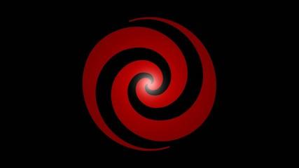 Drehende Spirale rot