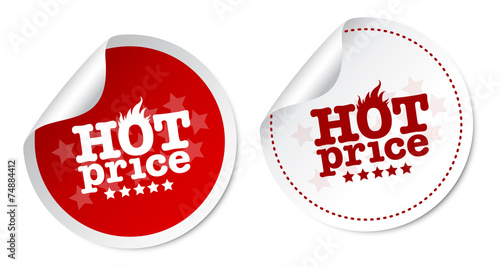 Hot price stickers - 74884412